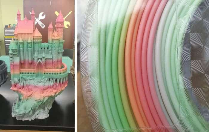 Multicolor 3D printer filament: FilaCube Rainbow PLA