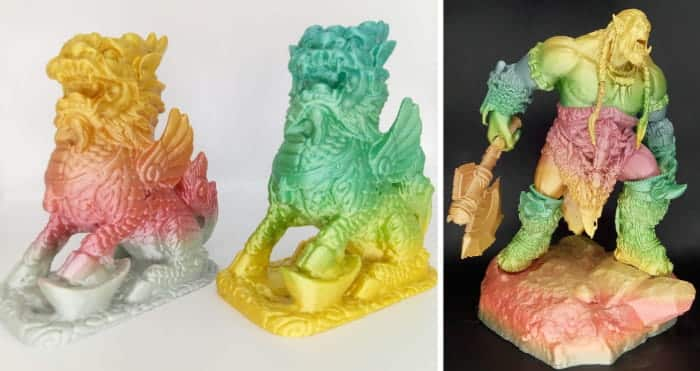 Multicolor 3D printer filament: Multicolor Gradient Rainbow by Stronghero3D.