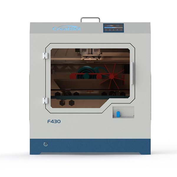The CreatBot F430 is one of the best cheap PEEK 3D printers on the market (low-cost high-temperature 3D printer).