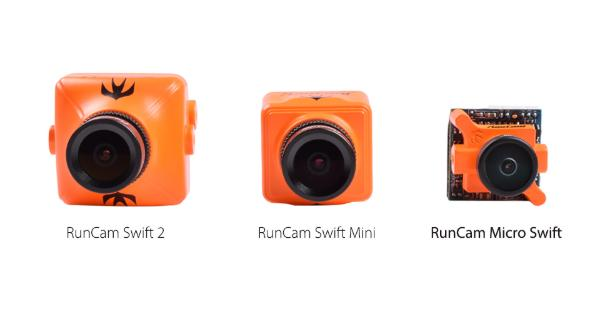 FPV racing drones RunCam Swift cameras