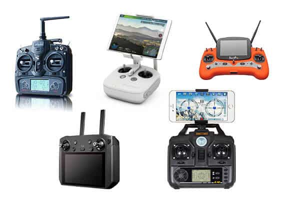 Different kinds of drone controllers