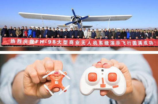 Plus grand drone du monde et plus petit drone du monde
