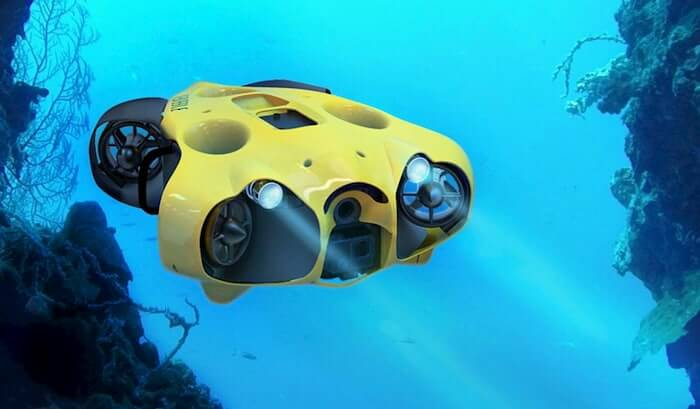 Submersible drone headlights Notilo iBubble