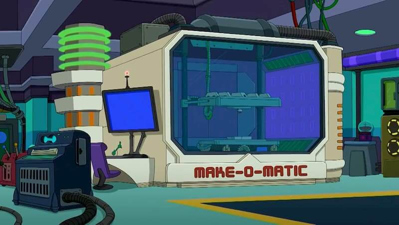 3D printing in pop culture Futurama