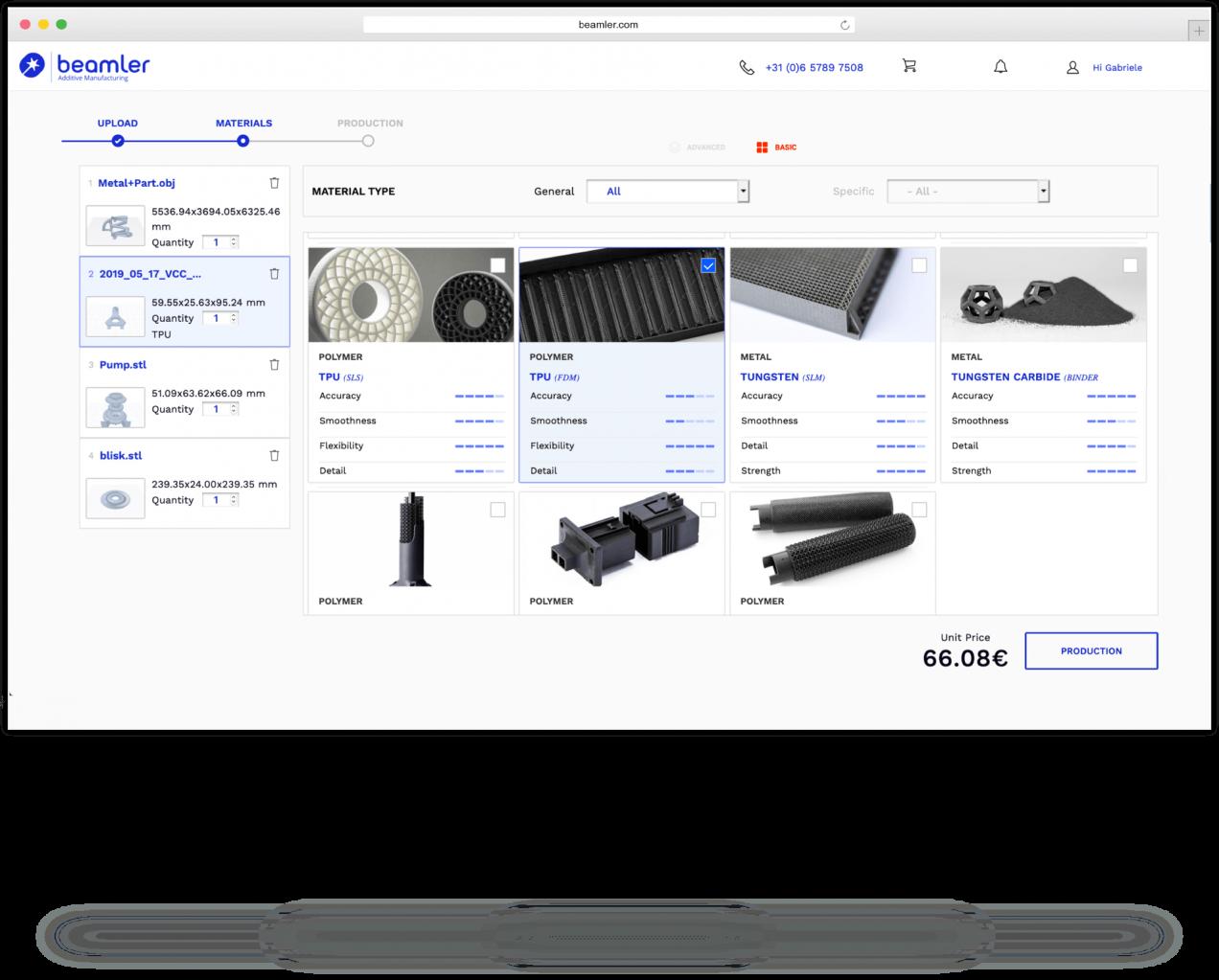 Beamler service impression 3D en ligne