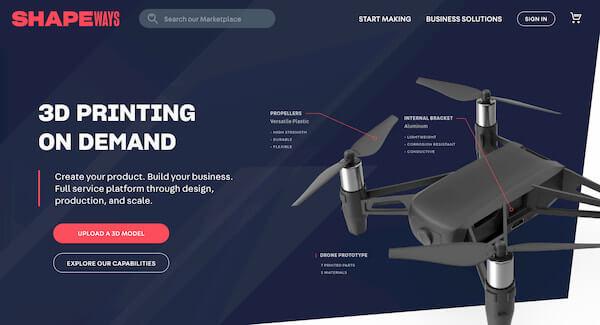 Shapeways imprimeur 3D en ligne