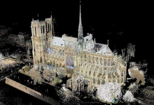 3D scan of Notre Dame 3d scanning for architecture