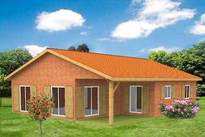 """Le modèle """"Kit maison Acacia + garage"""" de Kit Eco Logis"""