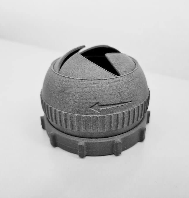 Iris box SLS print result with Sinterit Lisa Pro printer