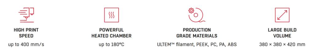 F420 key characteristics