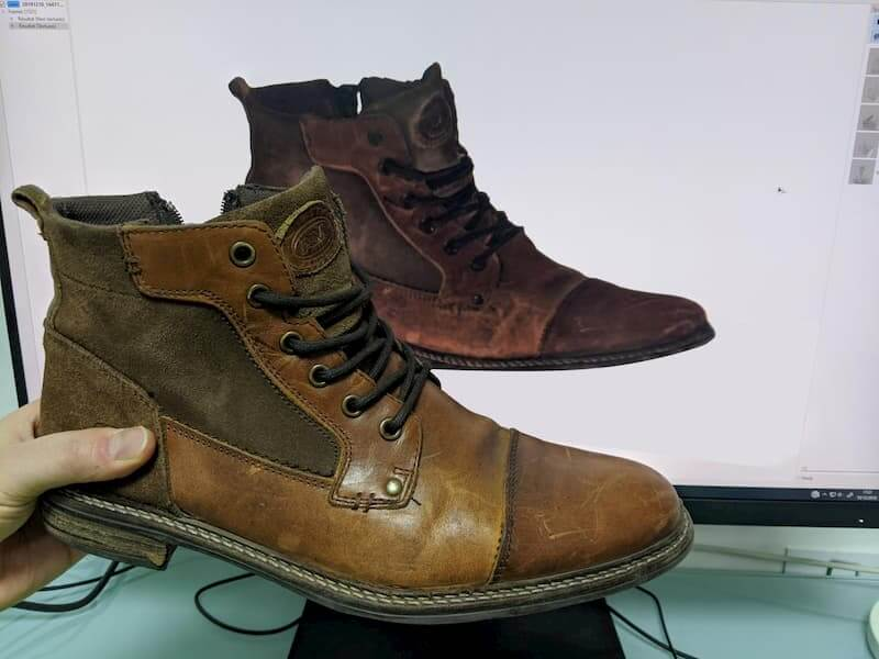 Leather shoe 3D scan Thor3D Calibry review