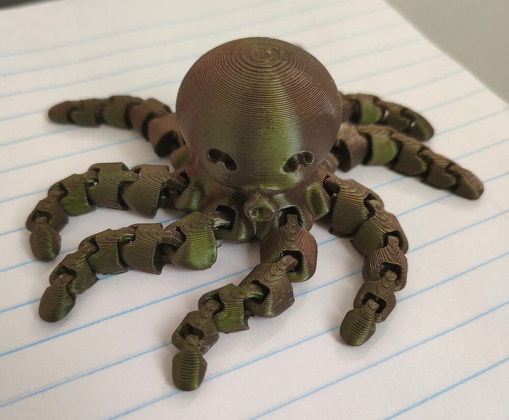Mini octopus 3D printed