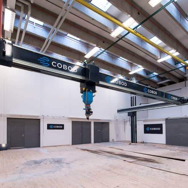The COBOD BOD2 is a house construction 3D printer.