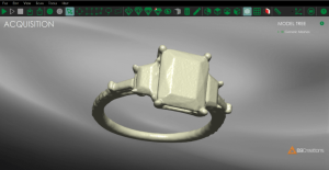 3D scanned ring by B9 Creations
