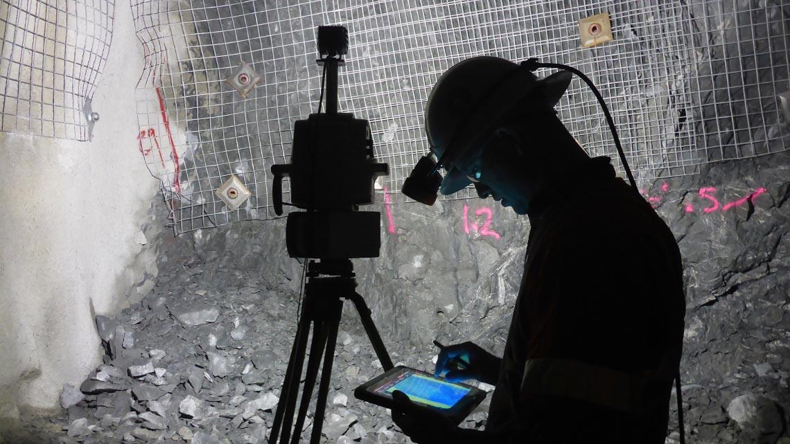 Underground terrestrial scanning Maptek