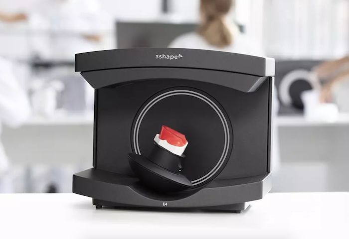 The 3Shape E4 is a dental lab scanner with an open design