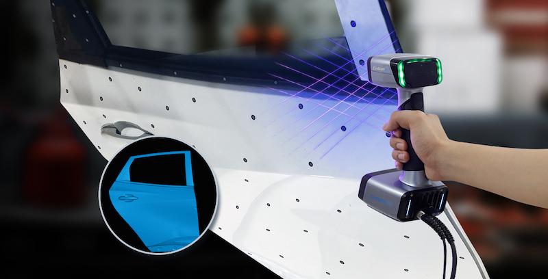 Le EinScan HX est idéal pour l'industrie automobile.