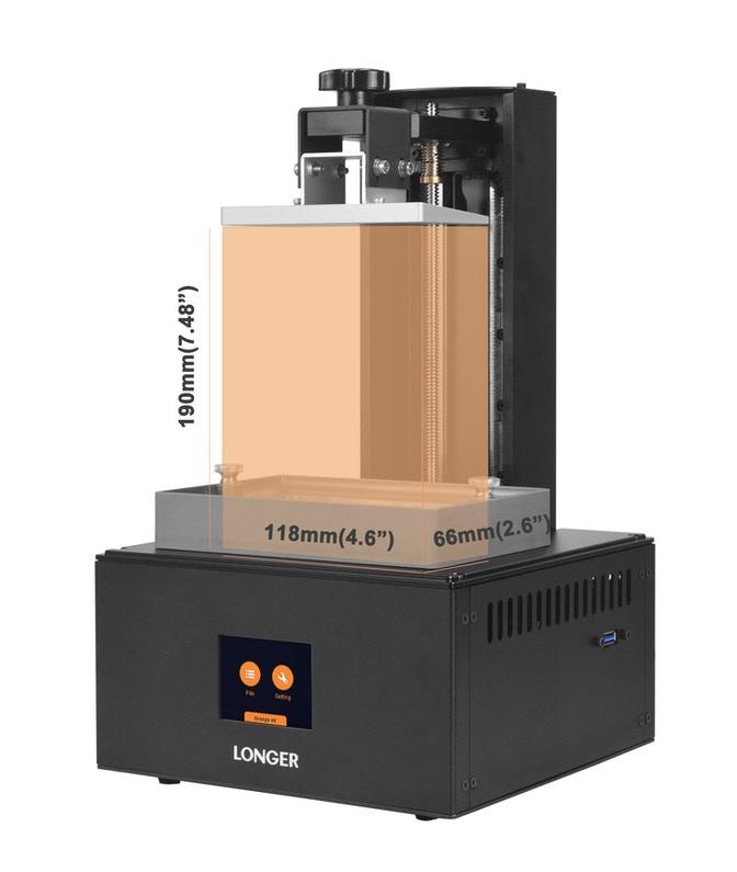 Longer3D Orange 4K build volume