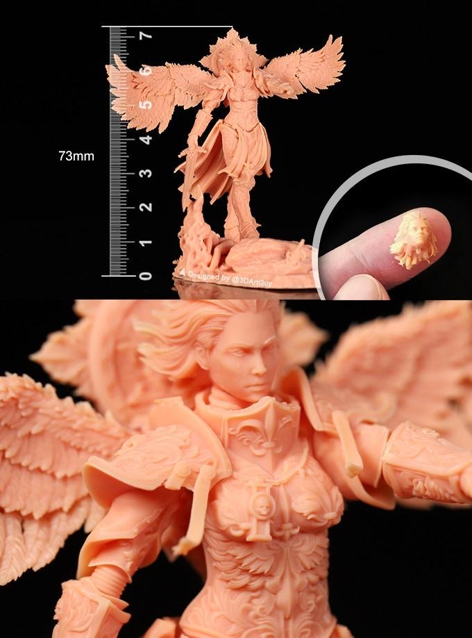 Ultra high definition resin 3D print Longer3D Orange 4K