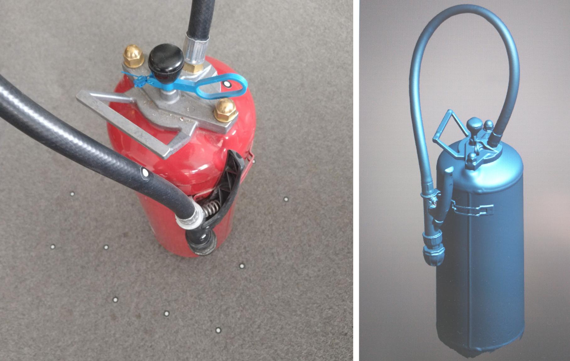 Fire extinguisher vs scan result