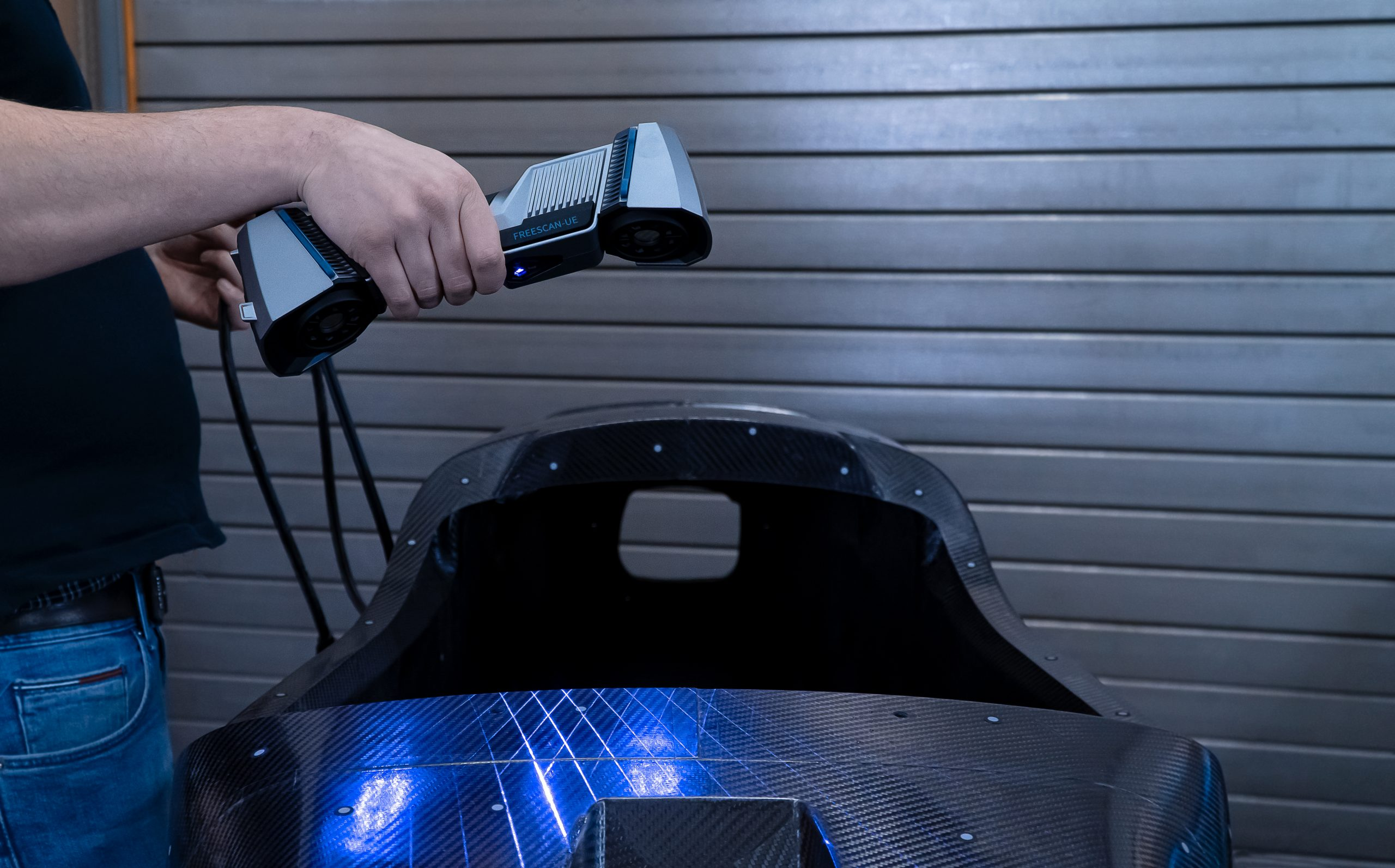 3D scanning a large part with the FreeScan UE