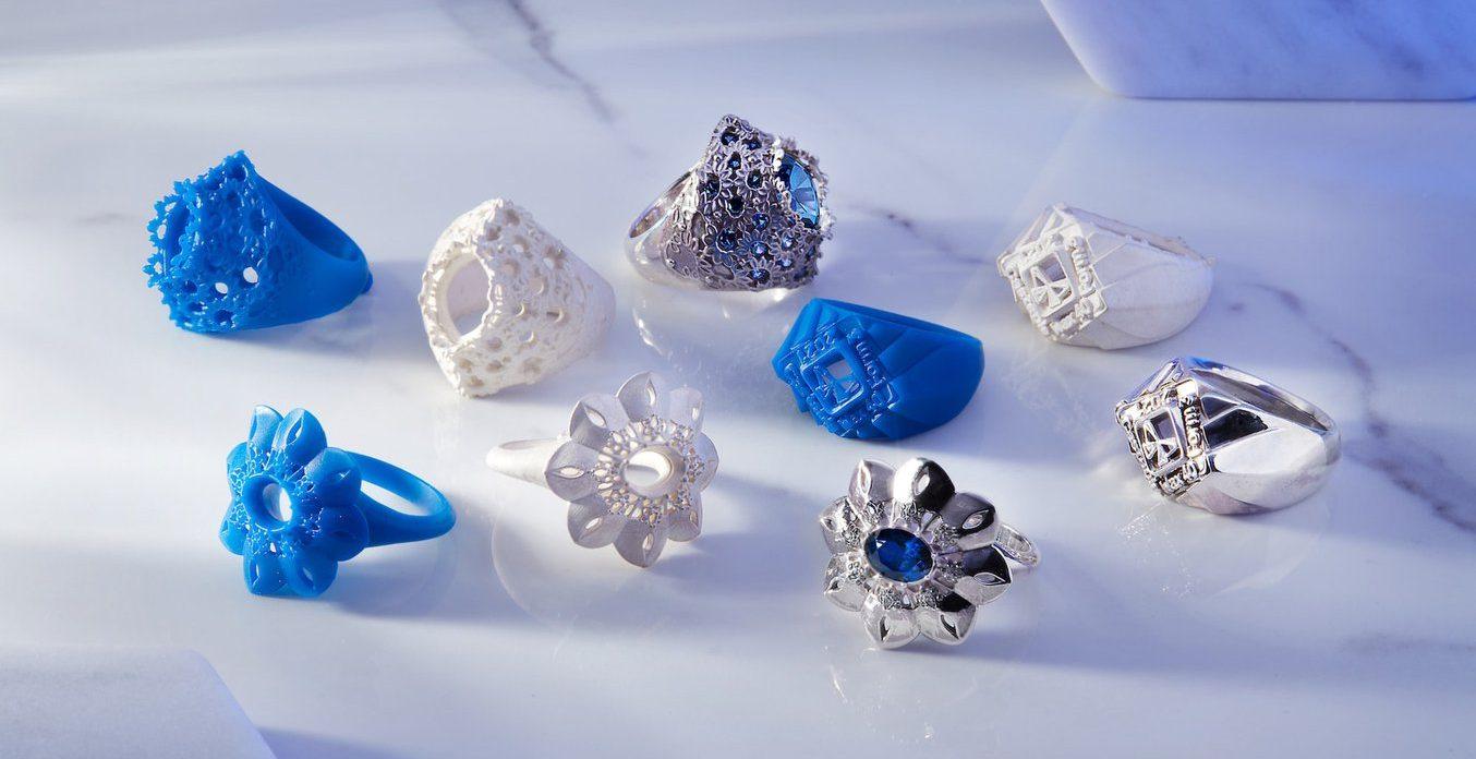 Jewelry 3D printing example